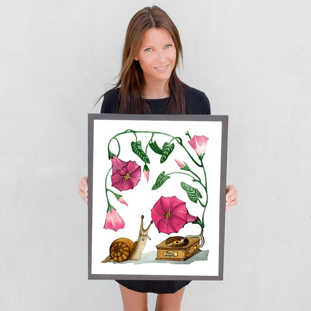Deyana Deco - LOVE MUSIC Framed Poster 16x20