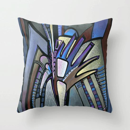 Deyana Deco - WINGS Throw Pillow 18x18