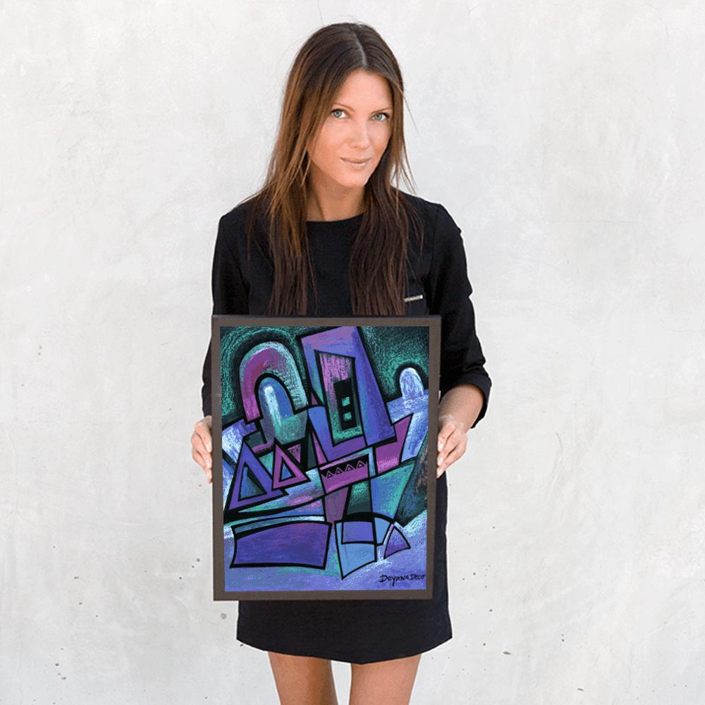 Deyana Deco - WINTER NIGHT Framed Poster 12x16