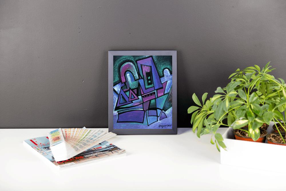 Deyana Deco - WINTER NIGHT Framed Poster 8x10