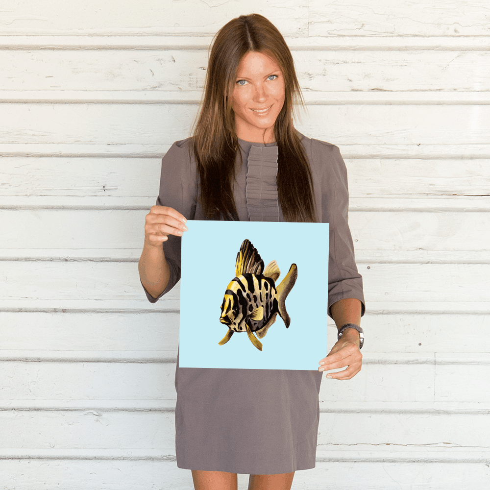 Deyana Deco - YELLOW FISH Poster 12x12