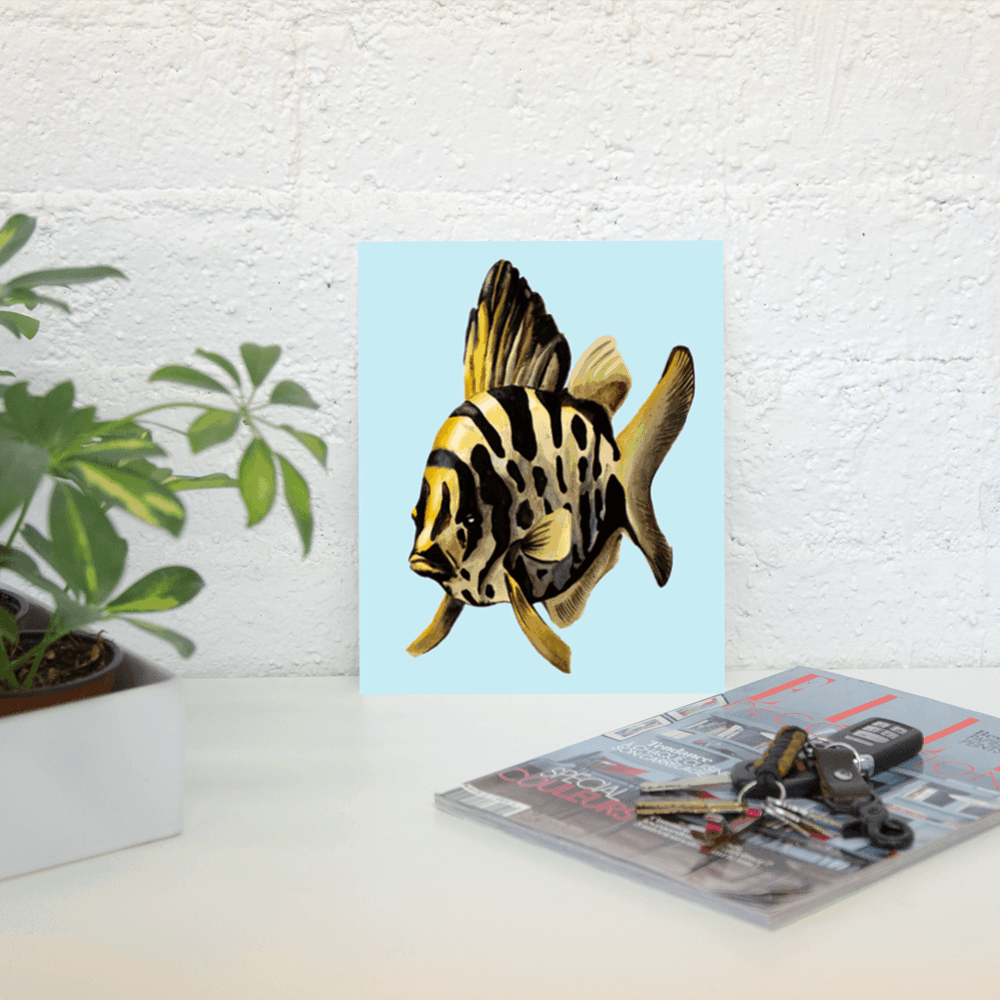 Deyana Deco - YELLOW FISH Poster 8x10